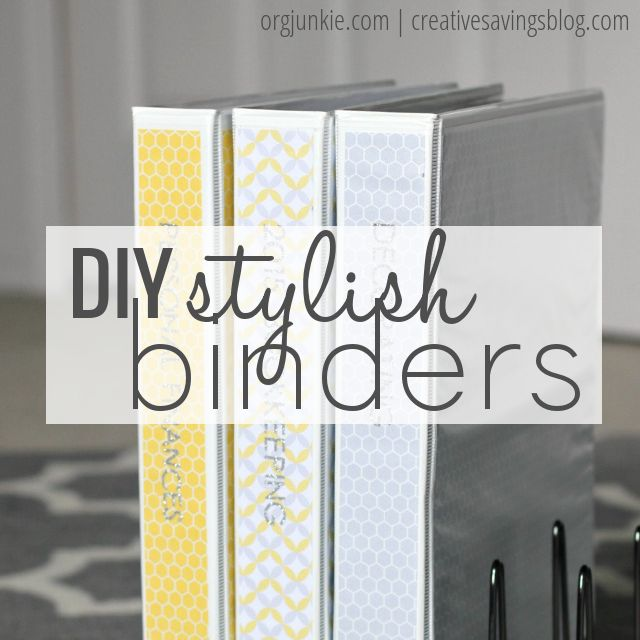 No need to spend big bucks on expensive binders...try these cute simple DIY binders at I'm an Organizing Junkie blog