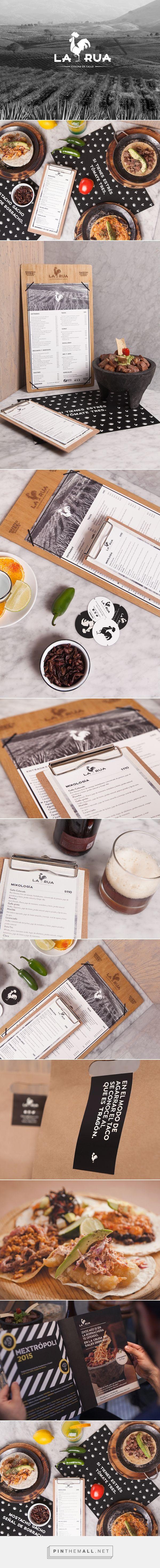 La Rua Restaurante y Bar Branding y Diseño de menú por El Pueblo de marca |  Agencia de Branding Fivestar - Diseño y la Agencia de Branding & Inspiration Gallery Curada