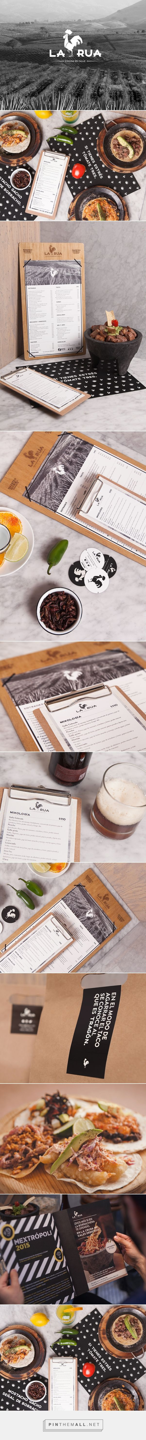 LA RUA Restaurant and Bar Branding and Menu Design by The Branding People | Fivestar Branding Agency – Design and Branding Agency & Curated Inspiration Gallery