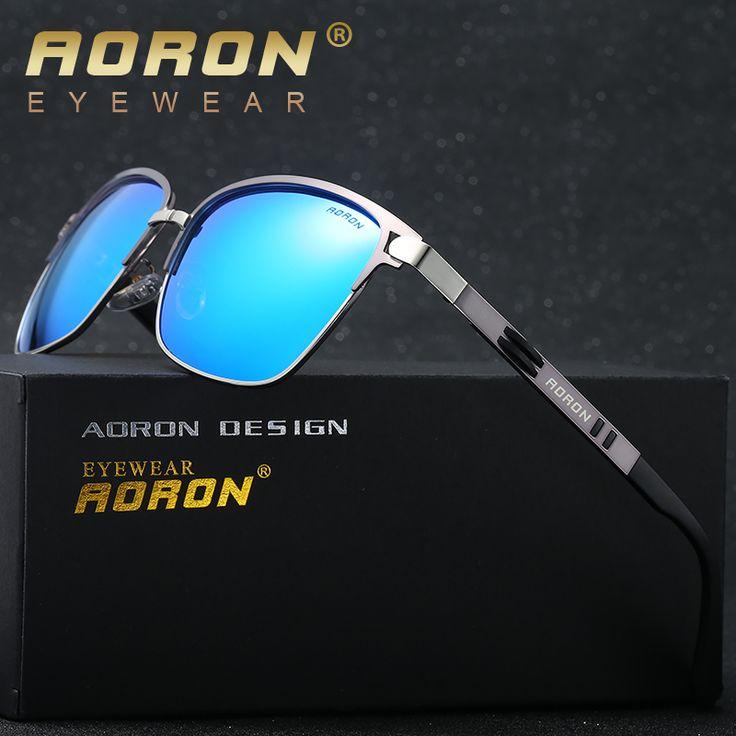 2017 AORON Brand Designer Driving Classic Polarized Sunglasses Goggles UV400 Eyewear oculos de sol Glasses for Men A378