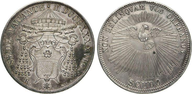 NumisBids: Numismatica Varesi s.a.s. Auction 65, Lot 857 : SEDE VACANTE (1846) Scudo 1846 Roma. Pag. 302 Ag Rara •...