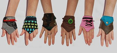 homemade wrist wallets. These would be great for dances so you don't have to carry a purse!