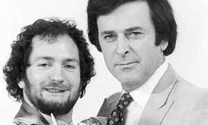 Sir Terry Wogan appearing on the Kenny Everett Show in 1975.