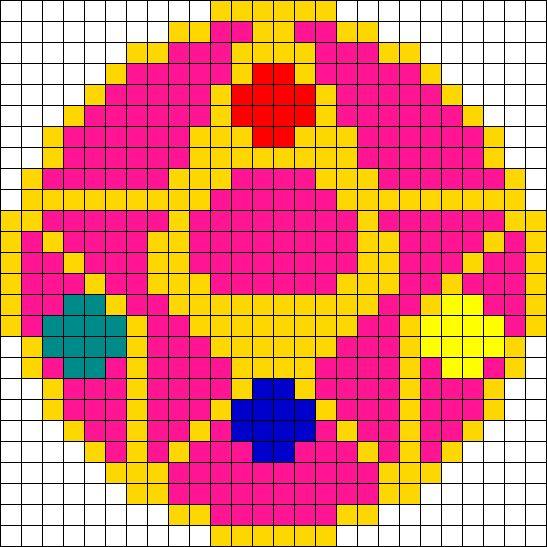 Sailor Moon Charm 01 Perler Bead Pattern / Bead Sprite