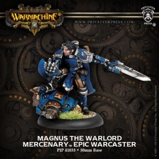 Magnus the Warlord #WARMACHINE #Mercenaries #PrivateerPress #warcaster #miniatures #wargames #steampunk