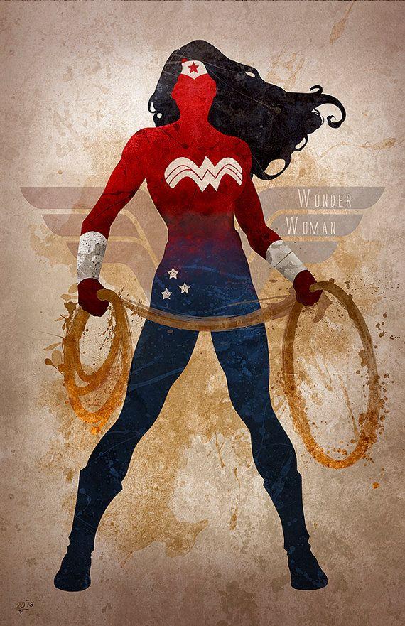 Impresión de Giclee arte original 'Wonder Woman' por DigitalTheory