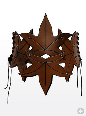 Elf Leather Bustier brown - maskworld.com