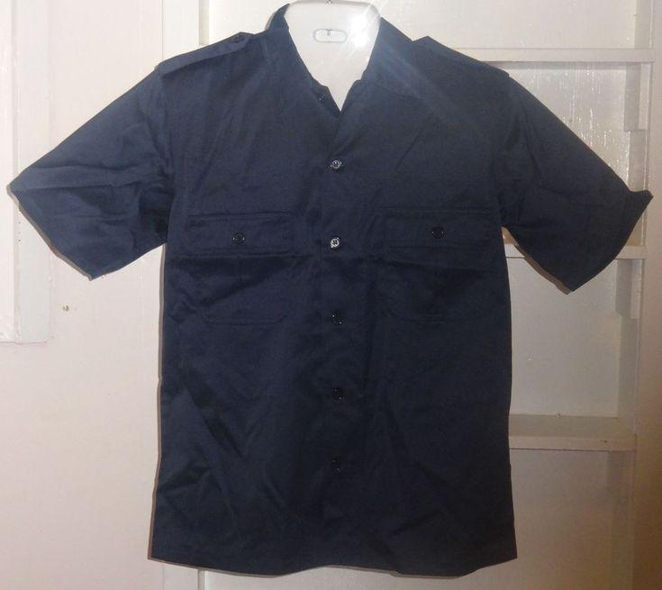 New USMC Men Marine Corps Short Sleeve Navy Blue Dress Uniform Shirt Medium #USMC #survivalshirt