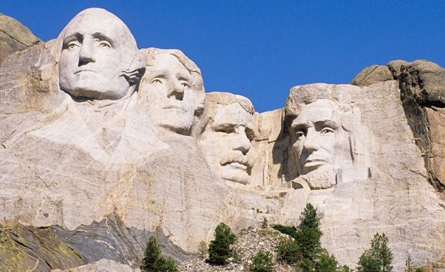 Even the most jaded teen will be wowed by the colossal busts of Washington, Jefferson, Roosevelt, and Lincoln at South Dakota's Mount Rushmore. (From: 30 Places Every Kid MUST See)