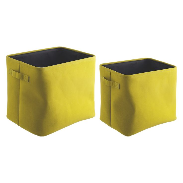JOLIE Set of 2 yellow storage boxes | Buy now at Habitat UK