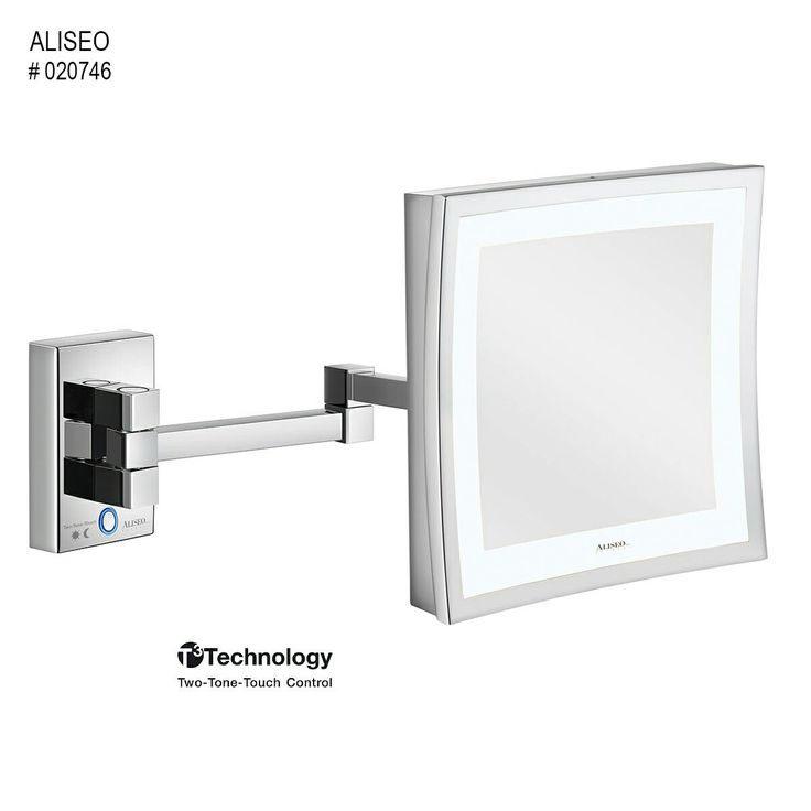 The LED CUBIK twin armed lighted mirror is a 3x magnification mirror. It has SMD-LED Lighting and Warm White light,it also features full pivotal adjustments adjustment and has HI-Tech touch control.  Make yourself beautiful with our LED CUBIK Mirror. Contact us during office hours to purchase your mirror.