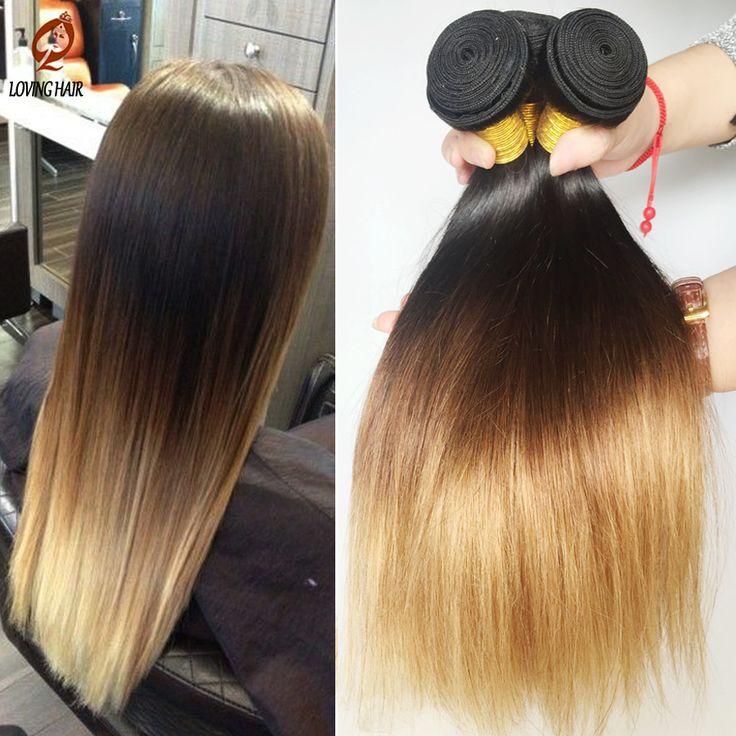 Rosa Ombre Brazilian Virgin Hair Straight 3 Bundles hair products Brazilian Virgin silky Straight  Hair Extensions  Blonde color - http://jadeshair.com/rosa-ombre-brazilian-virgin-hair-straight-3-bundles-hair-products-brazilian-virgin-silky-straight-hair-extensions-blonde-color/  Hair Weaving