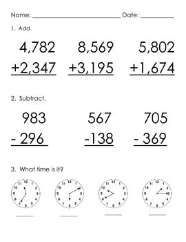 17+ images about Addition And Subtraction With Regrouping on ...