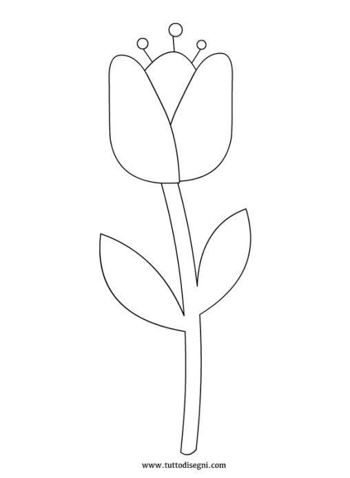 Disegno Tulipano Progetti Da Provare Flowers Pattern E Logos