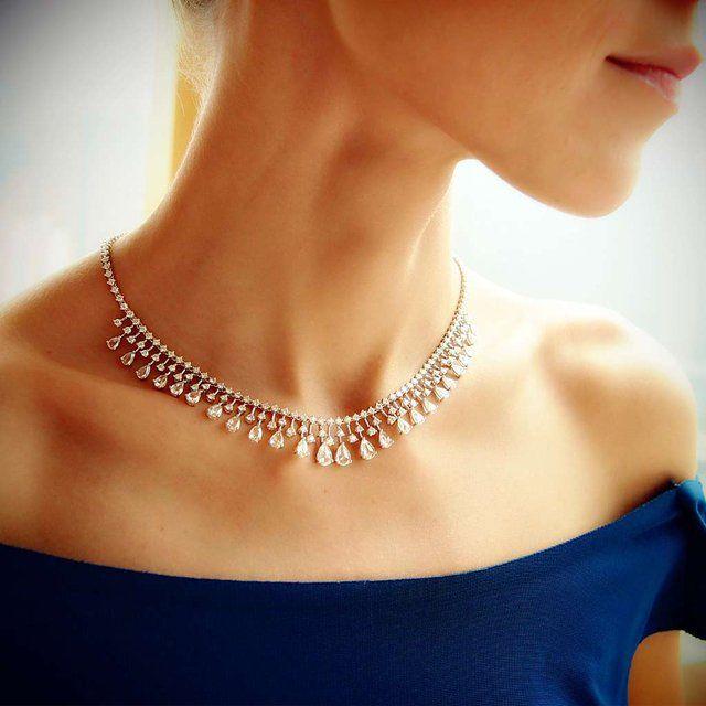 Diamond Audrey Necklace by Plukka