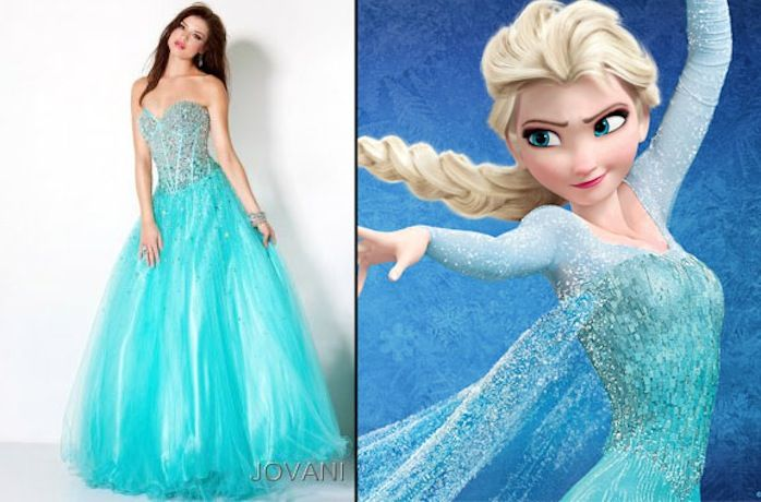 Frozen Disney Princess Dress Pattern | OMG: 11 Dresses Your Favorite Disney Princesses Would Wear to Prom in ...