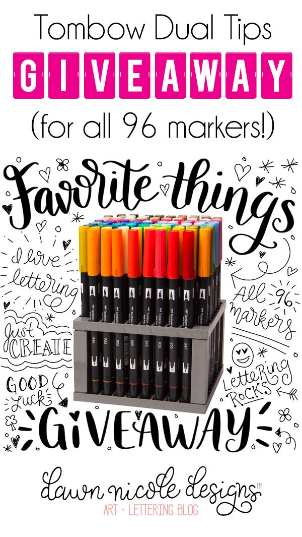Tombow Dual Tips Giveaway (for all 96 markers and the stand too)! | DawnNicoleDesigns.com