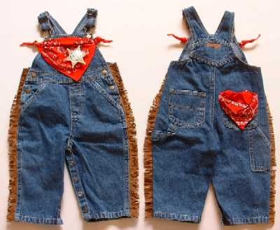 My friend makes these cool cowboy overalls that are great for a cowboy birthday party.  Check out www.enchantedegg.com for her creative kid's clothing line.  She does online orders.