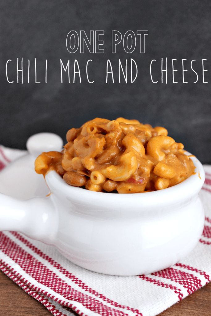 One pot chili mac and cheese is the perfect comfort food, as it is made up of two popular comfort foods. It's easy and quick to make--done in 30 minutes!