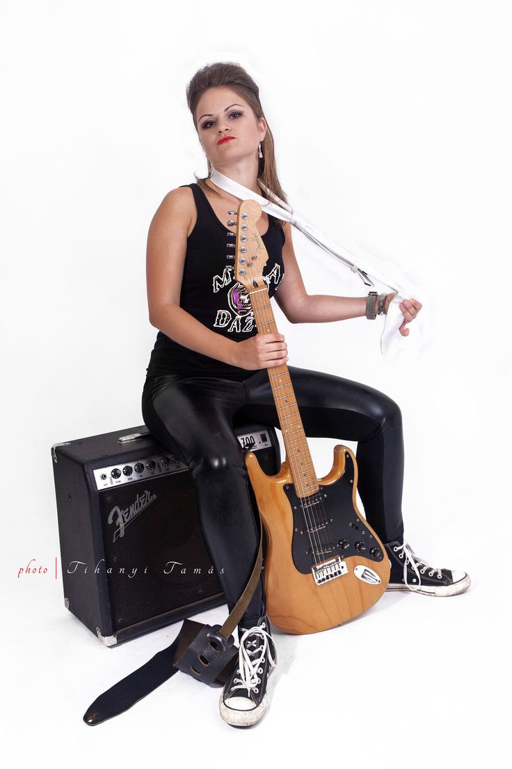 Electric guitar and cool girl