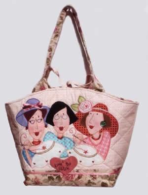 Red Brolly Designs - Gingham Girls LargeCarryall