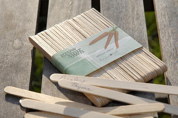 Mit den schmucken Holz-Labels verlierst Du nie den Überblick über Deine Setzlinge