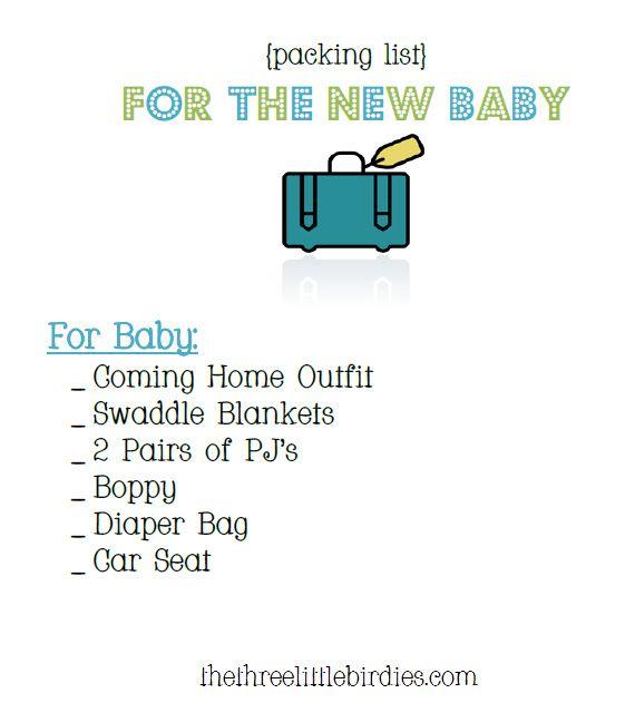 9 best images about First Baby Checklist on Pinterest - newborn checklist