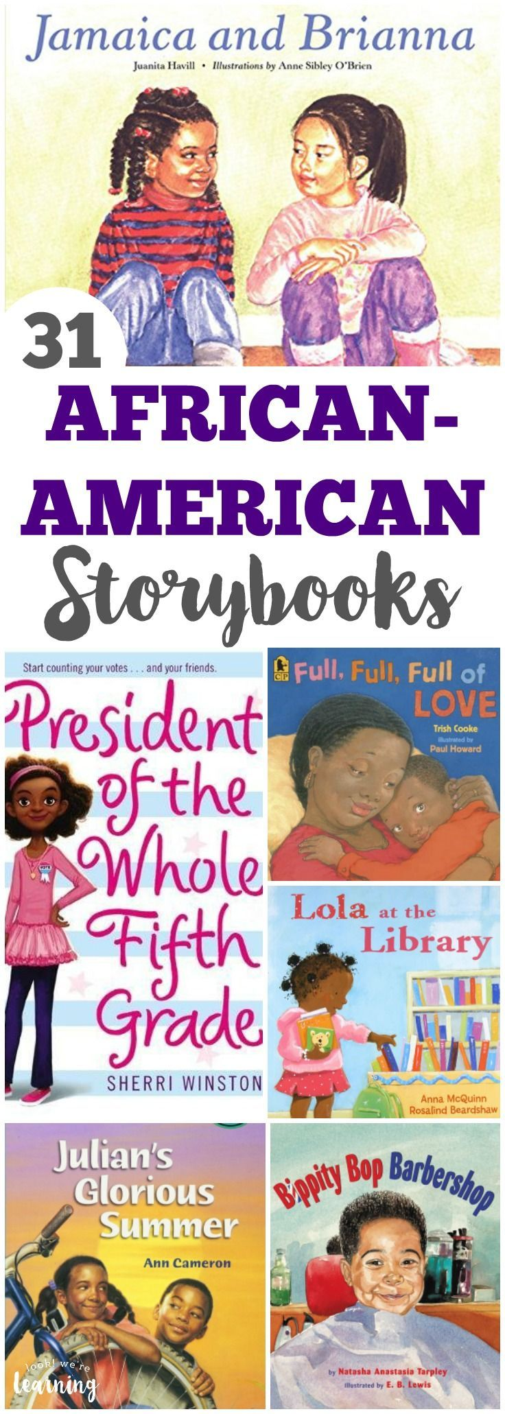 Read these wonderful African American story books for kids with your little ones! #reading #booksforkids #africanamerican