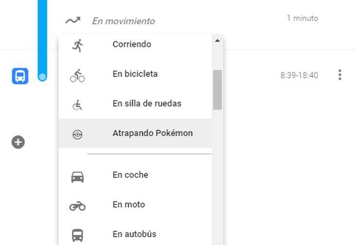 """#Curiosidades #Mapas #actividad Google Maps añade """"Atrapando Pokémon"""" como actividad seleccionable en Cronología."""