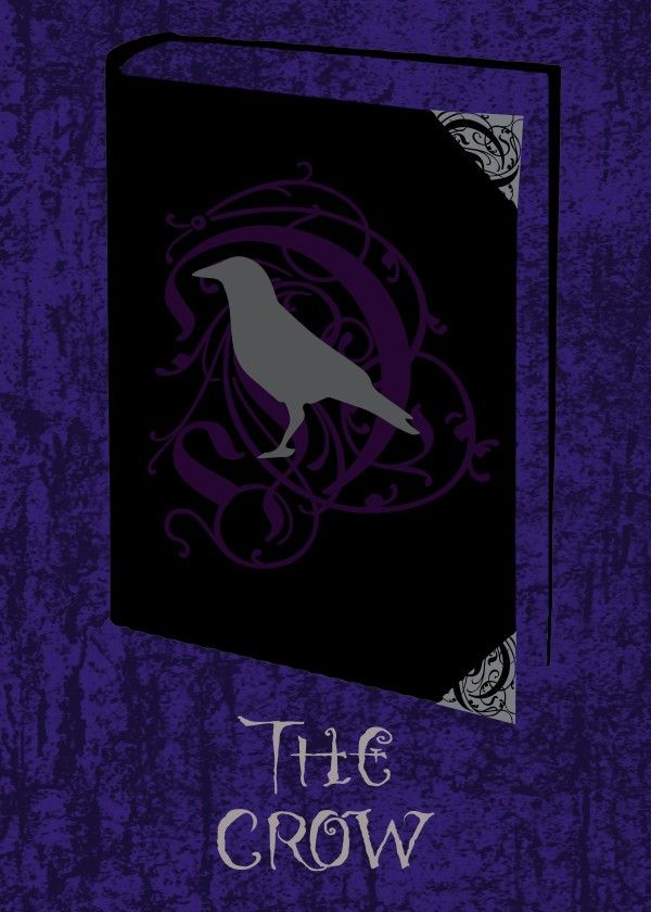 The Crow Poster by Emily Pigou #book #cover #poster #crow #raven #fiction #gothic #purple #design #displate  #decor