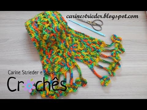 Cachecol em Crochê por Carine Strieder