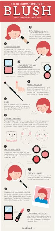 10 Commandments of Blush: Tricks for creating a rosy glow