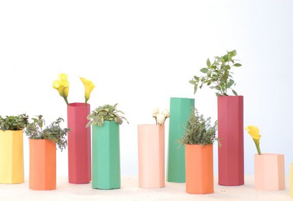 polygon vases