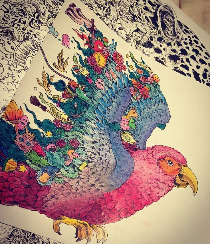 937 best Coloring book Animorphia images on Pinterest | Adult ...