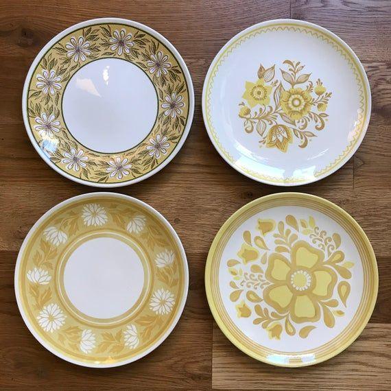 1950 S Mismatched Ironstone Dinnerware Set 4 Dinner Plates 4