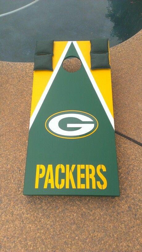 Green Bay Packers Set. | JR Custom Cornhole Boards | Bean bag boards, Cornhole boards, Diy ...