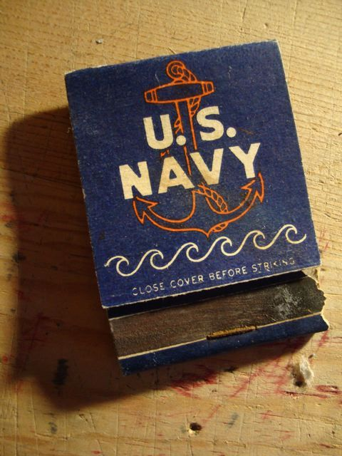 US Navy matchbook.