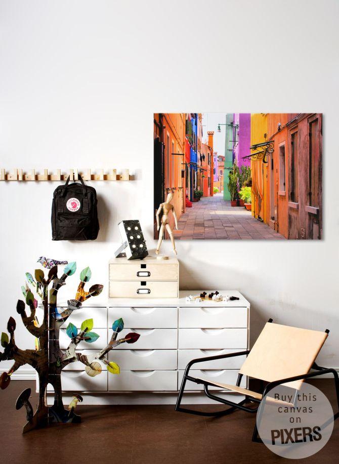 Tableau,Poster Rue colorée