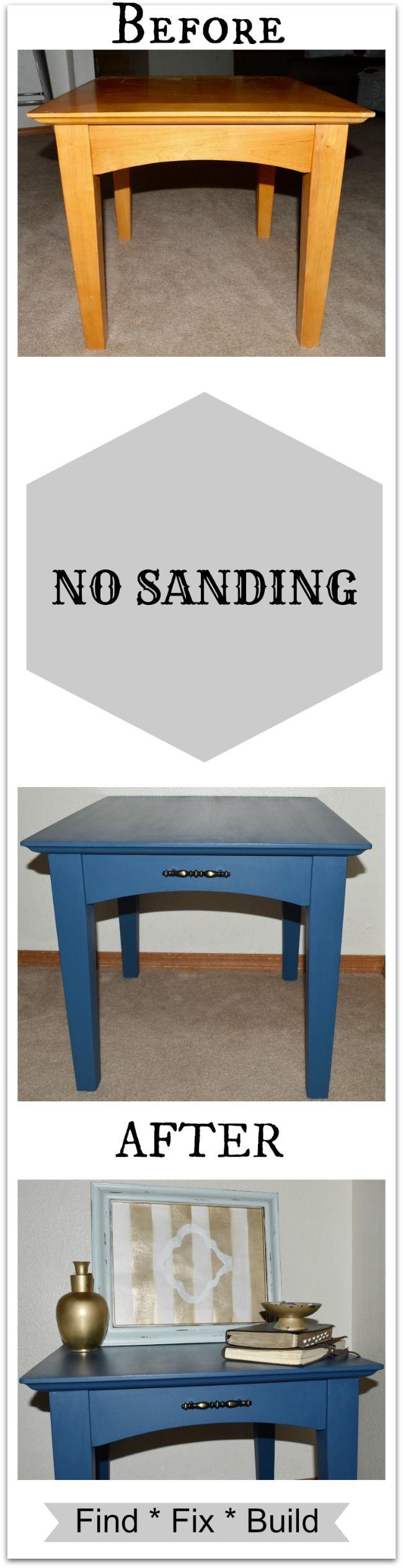 Sanding Paint Furniture