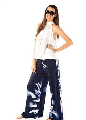 Palazzo Pants  Wide leg pants with 3cm elastic around the waist. Sizes 8,10,12 and 14.