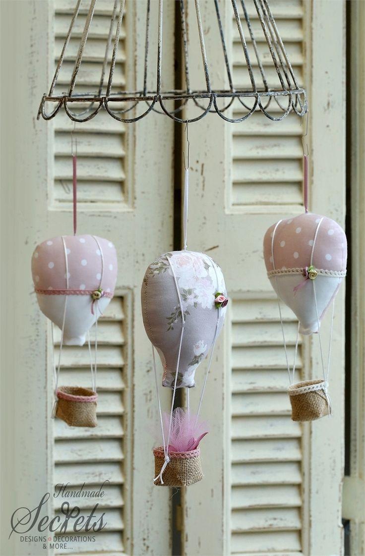 μπομπονιέρες για κοριτσάκι αερόστατα