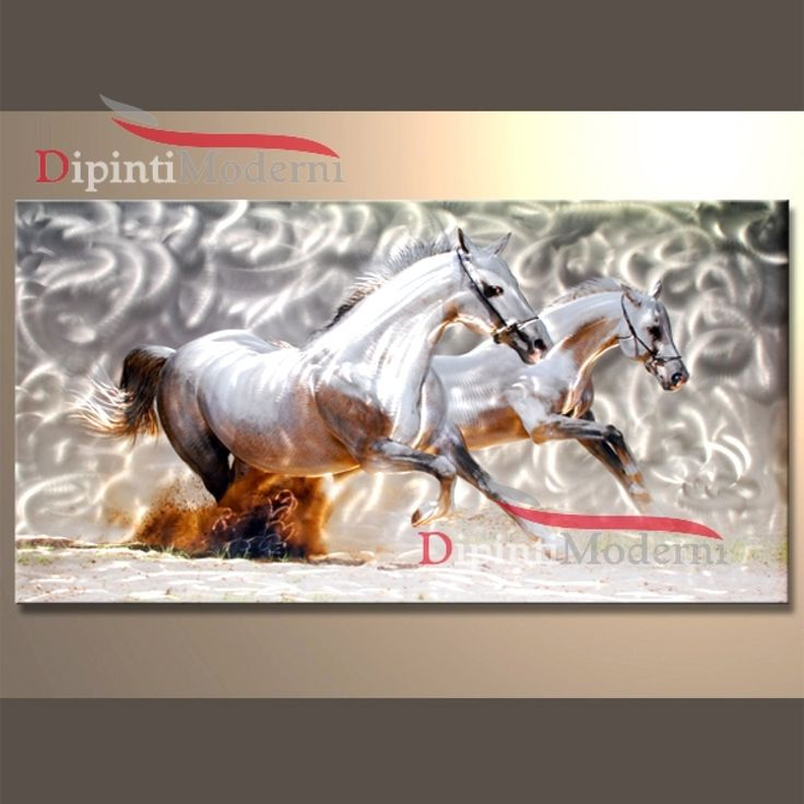 METAL ART Cavalli bianchi