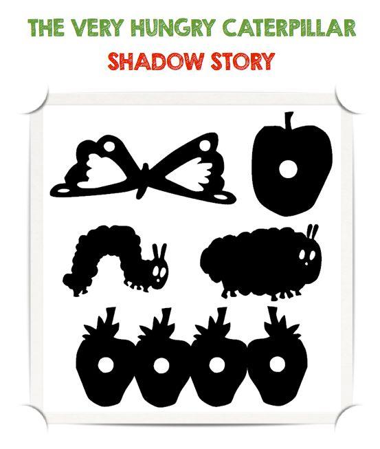 """Devido ao grande sucesso desta história - escrita e ilustrada por Eric Carle - resolvemos criar """"shadow puppets"""" para contá-la de uma m..."""