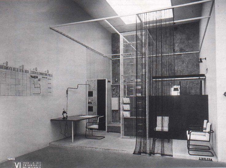 Franco Albini, Stanza per un uomo, Galleria dell'arredamento, Sala Dassi, VI Triennale di Milano, Milano, 1935.