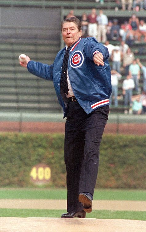 Remember this year when President Reaga threw out the first pitch at Wrigley Field!!!???