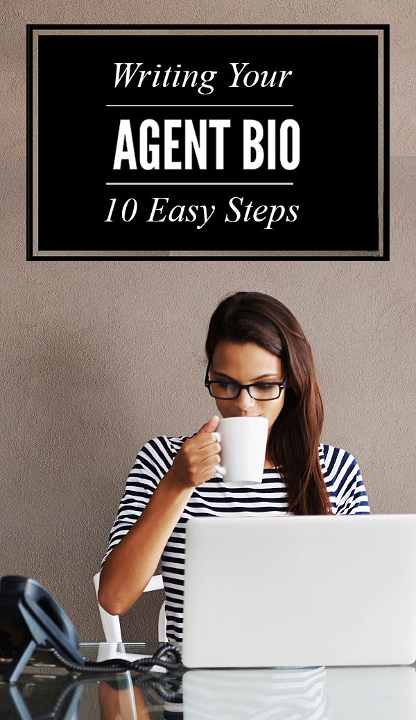 10 Steps for Writing Your Real Estate Agent Biography - Your agent bio reveals a lot about you, your real estate knowledge, background and forms connections with buyers and sellers. Your real estate marketing should include promoting the best REALTOR biography you can put forward. #RealEstateMarketing #Realtors #RealEstateTips