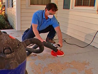 Rock Solid hosts Derek Stearns and Dean Marsico show how to use overlay and a pattern stamp to rework a cracked and peeling concrete porch floor. The result is a stylish porch surface resembling slate at a fraction of the cost.  (DIY Network). Includes a video!