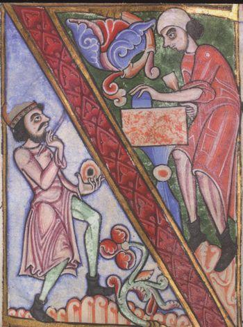 Dover Bible Vol. II, Corpus Christi, Parker Library MS 4, f.242v c.1160