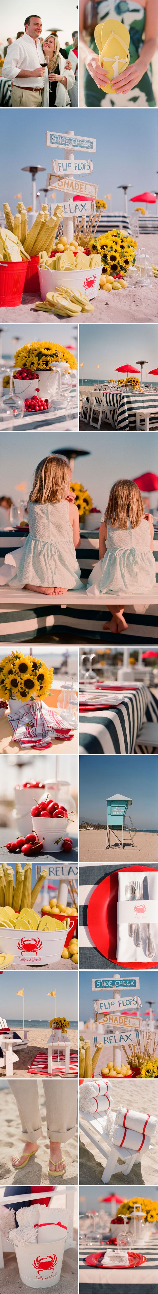 Fun beach wedding ideas!