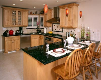 U Shaped Traditional Kitchen Design U Shaped, Storage Space and Stainless Steel Appliances Traditional Kitchen